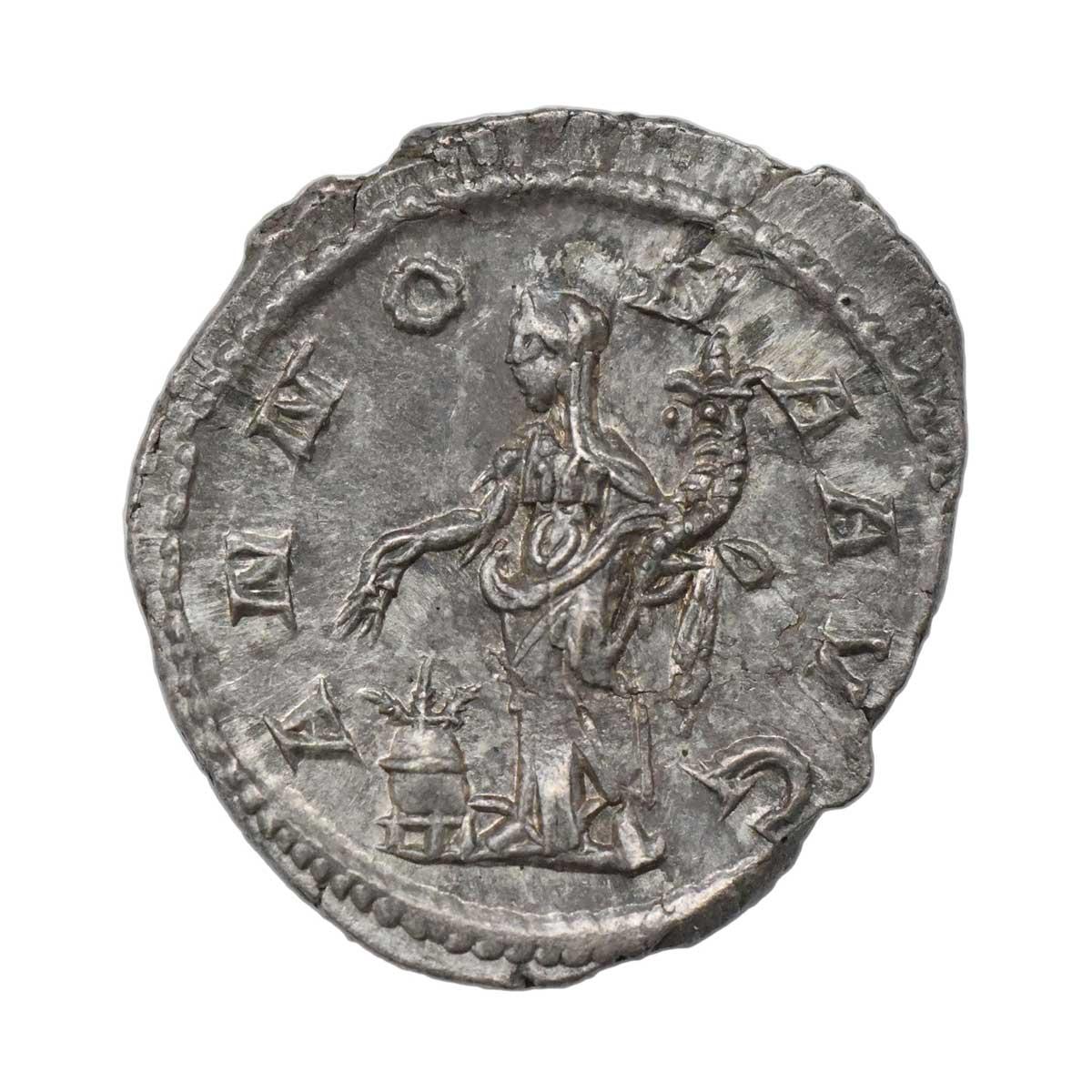 Moneta in argento di Roma Denario di Alessandro Severo