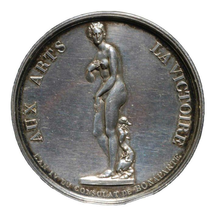 Medaglia in argento di Napoleone Bonaparte La Venere de Medici