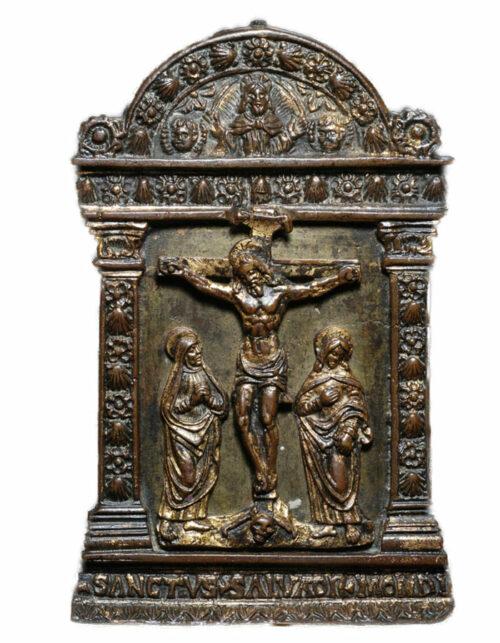 Placchetta in bronzo Crocifissione Niccolo Fiorentino