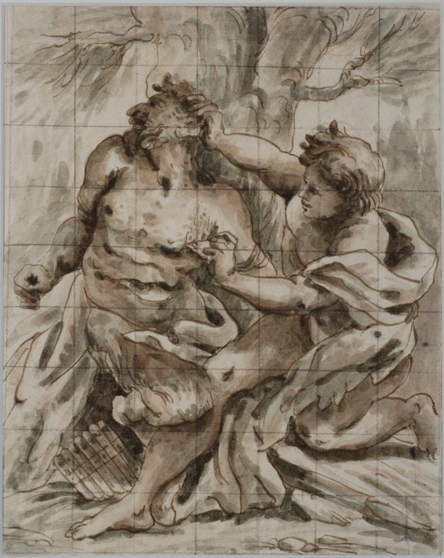 disegno Paolo Pagani Apollo e Marsia
