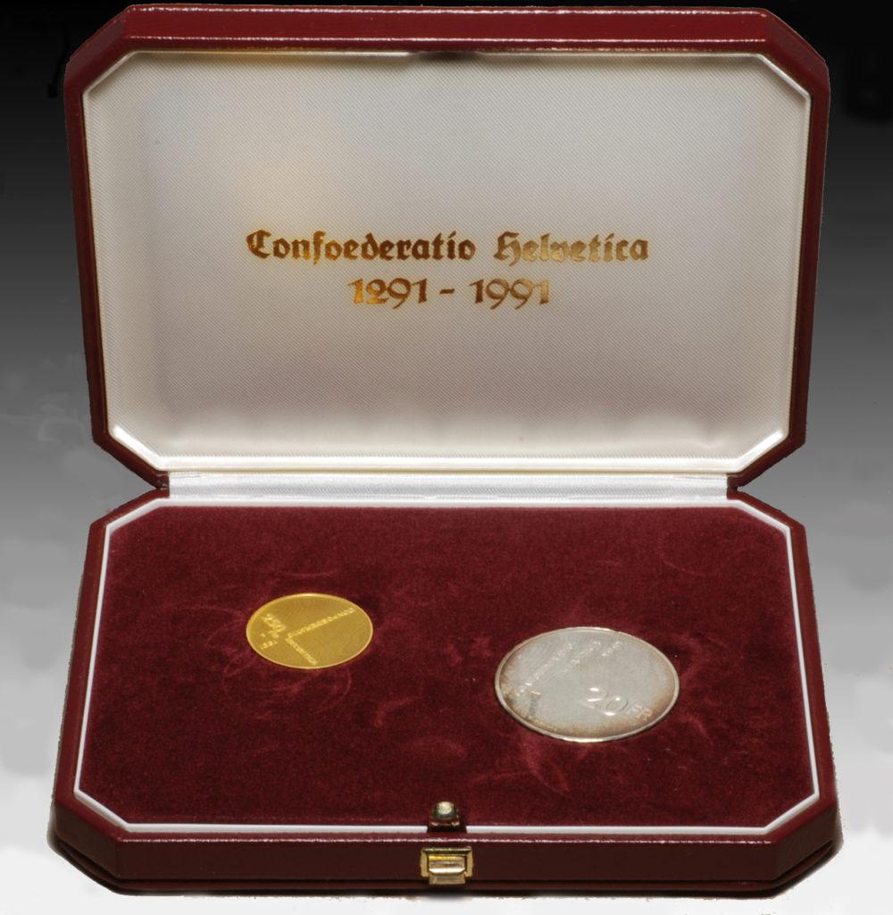 250 francs gold swiss confederation 1991 münzen