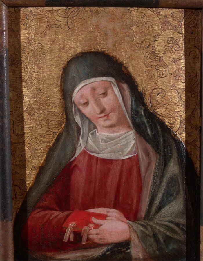 Dipinto di Andrea Sabatini detto Andrea da Salerno Busto di Santa Elisabetta o Santa Marta