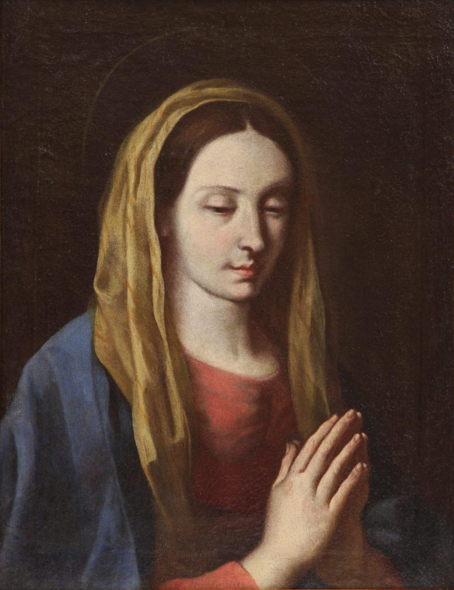 GIOVANNI FRANCESCO GUERRIERI Fossombrone Pesaro opera dipinto Madonna Preghiera