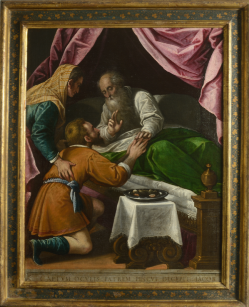 Dipinto di Leandro dal Ponte detto Bassano con Giacomo Apollonio Isacco benedice Giacobbe