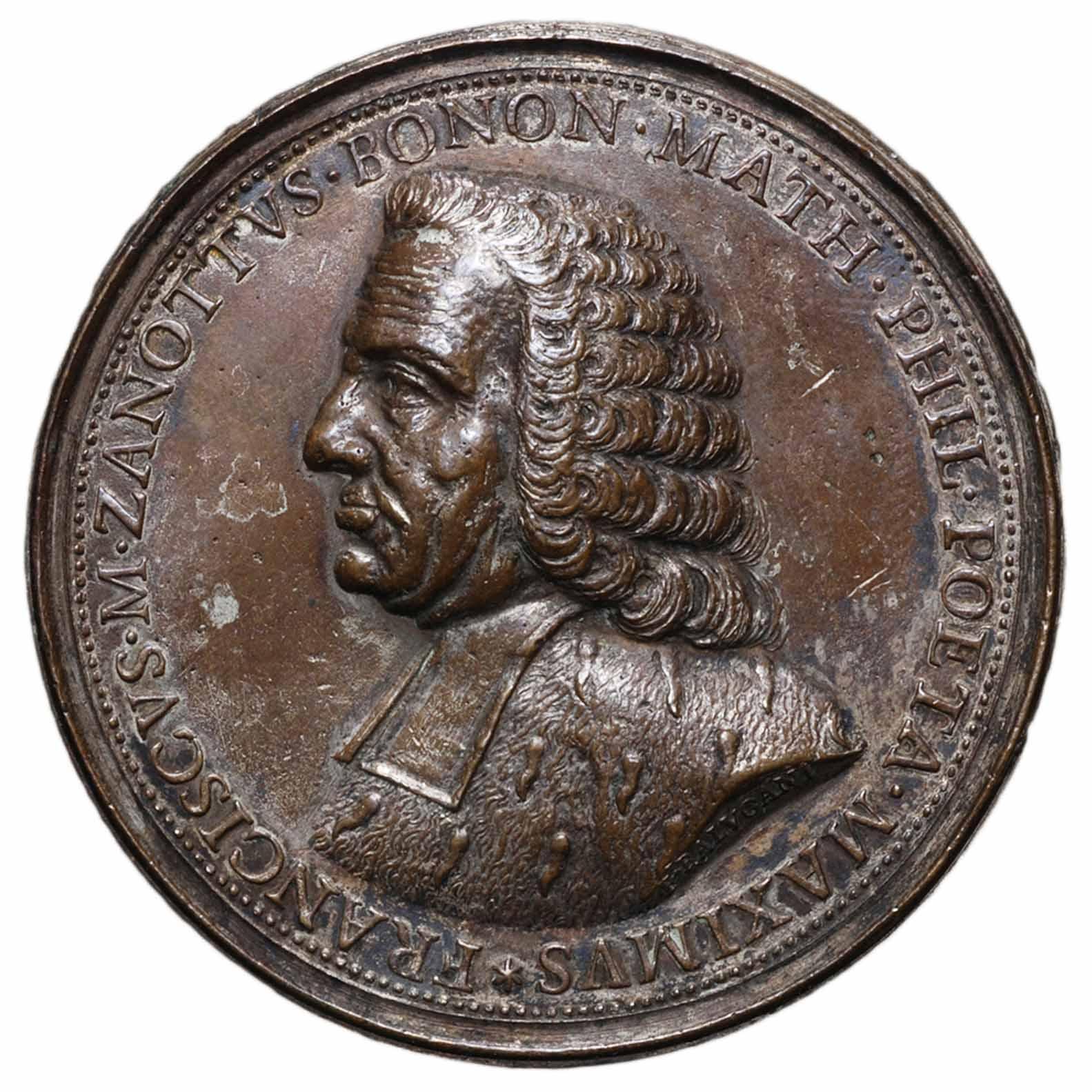 Medaglia in bronzo di Francesco Zanotti di Bologna