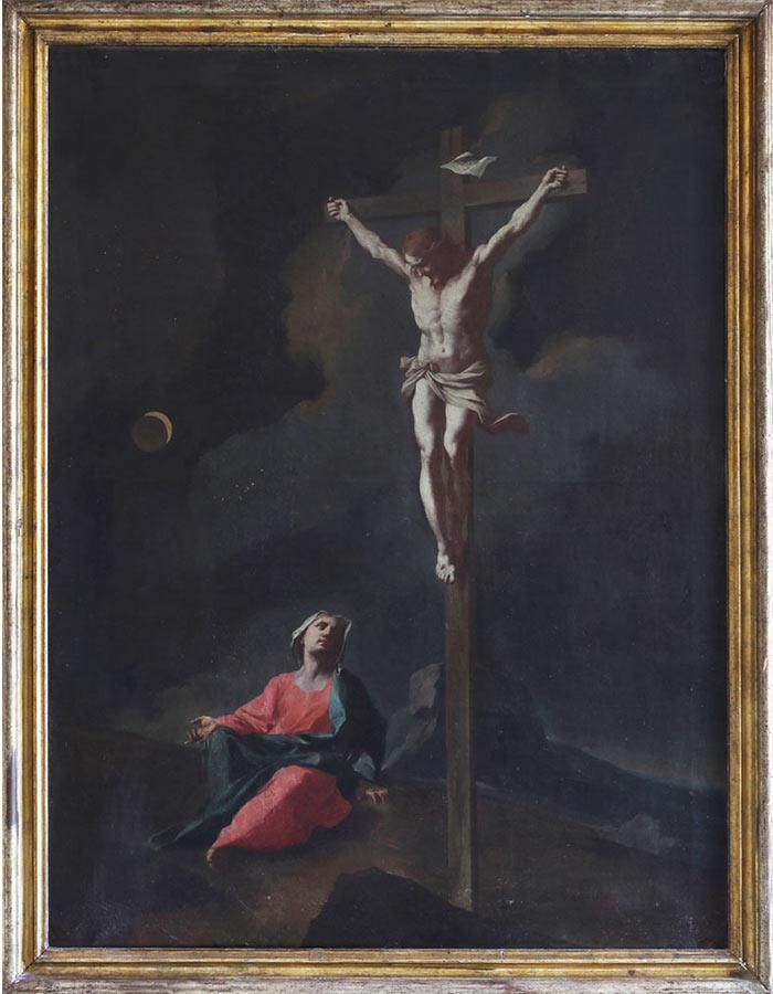 Dipinto di Giuseppe Antonio Petrini Carona Crocifissione