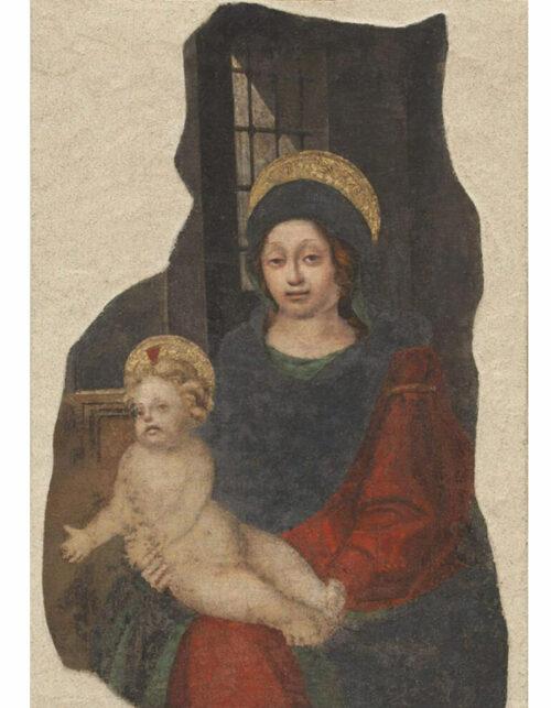 Michele dei Molinari detto Michelino da Besozzo e bottega di Bernardo Zenale Madonna con Bambino affresco staccato