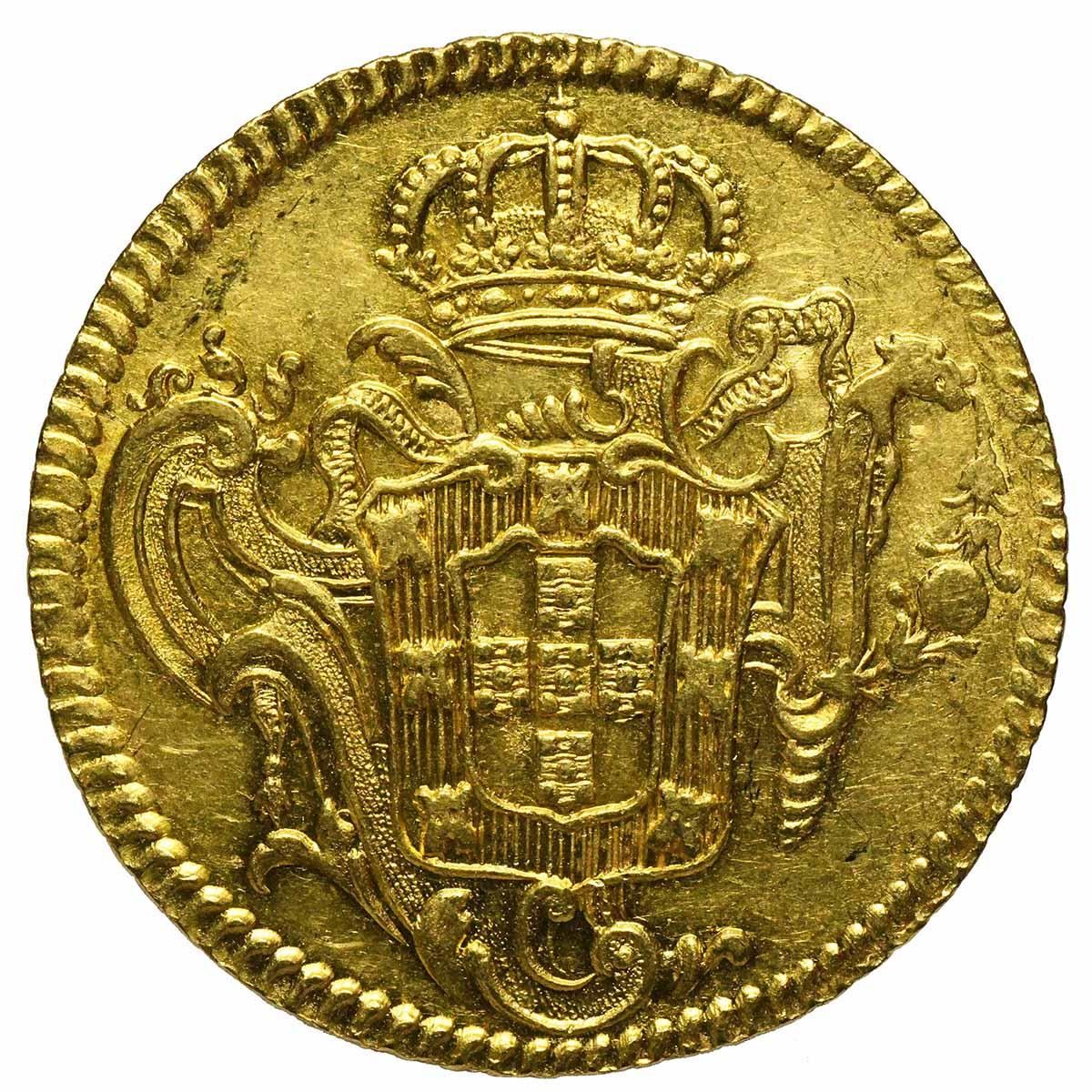 Moneta in oro del Brasile 6400 Reis o peca di Re Jose