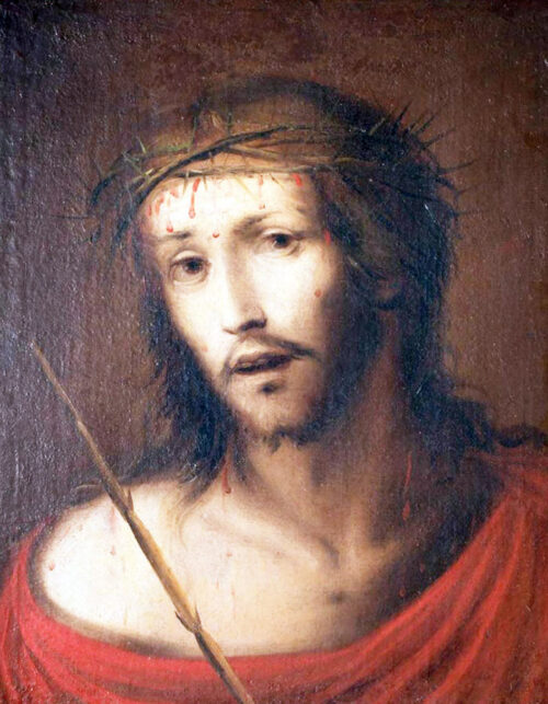 Dipinto di Giovanni Battista Discepoli detto Zoppo da Lugano Hecce Homo Olio su tela