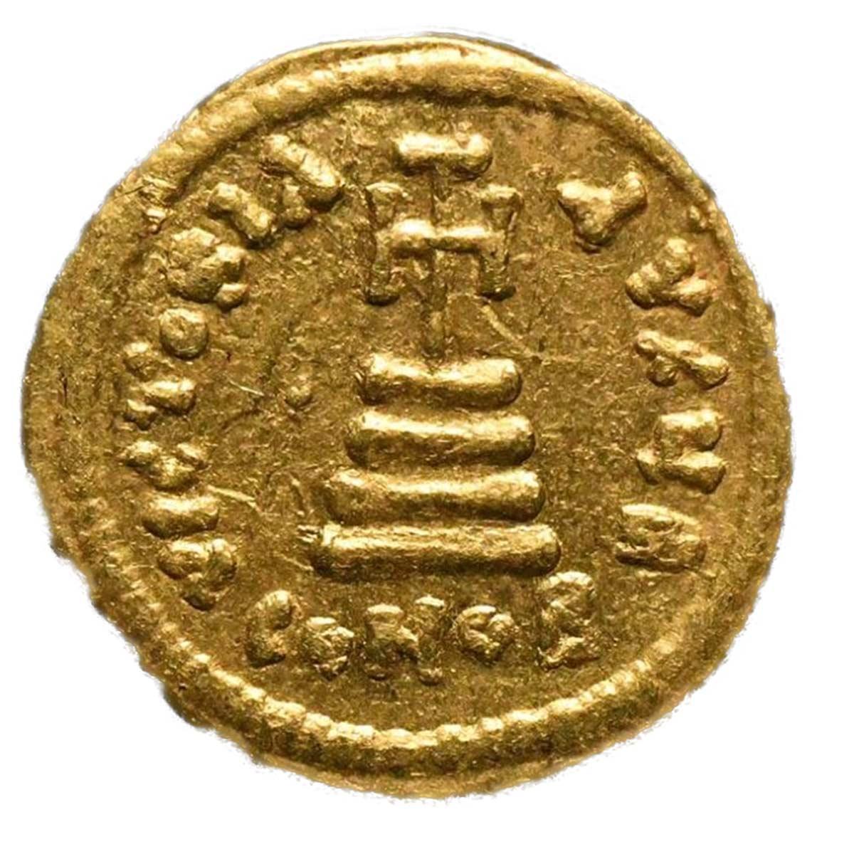 Impero bizantino Moneta in oro Solido di Eraclio Constantino