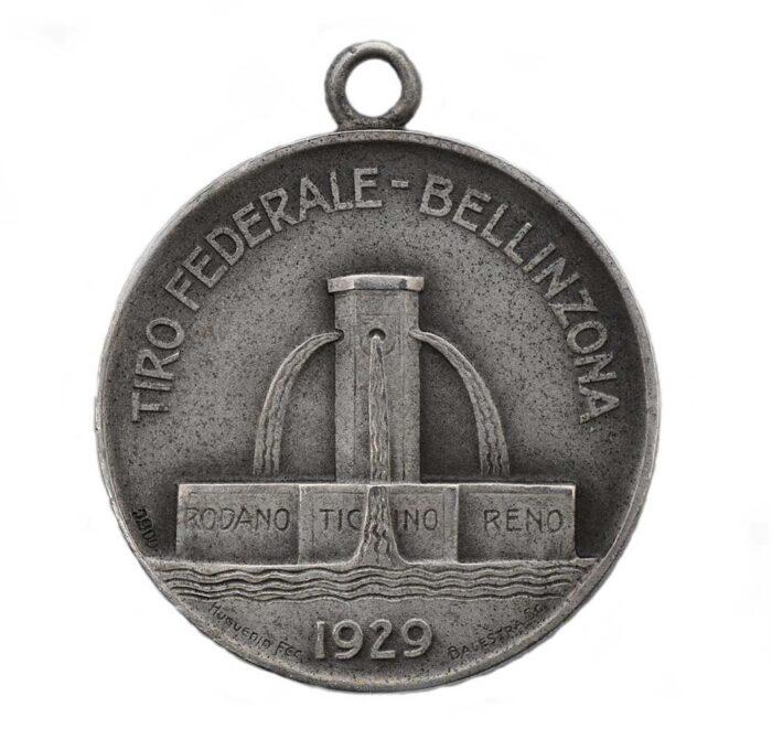 Bellinzona Medaglia in argento Tiro Federale 1929