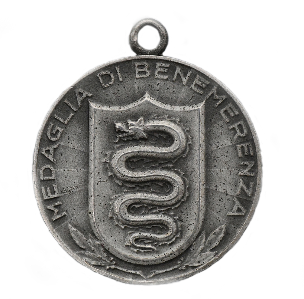 Medaglia in argento di Bellinzona in Ticino Tiri Federali 1929