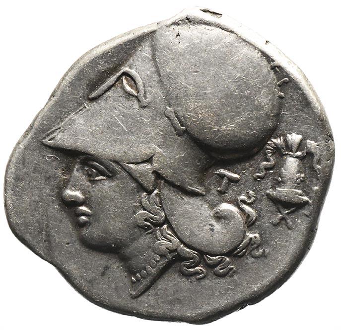 Moneta in argento di Leukas in Acarnaia