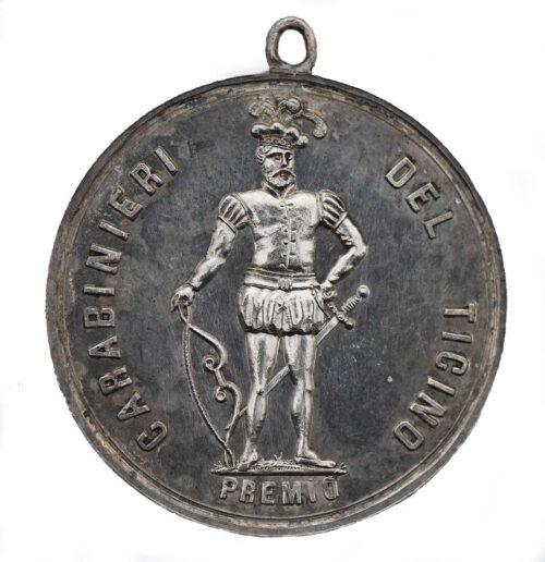 Medaglia in argento di Lugano in Ticino Tiri Federali 1862