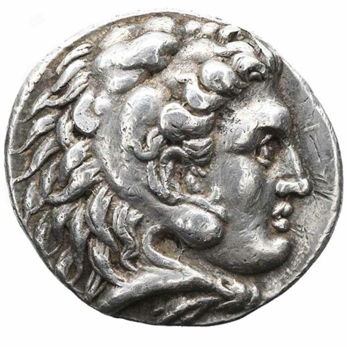 Moneta greca in argento Tetradracma di Alessandro il grande di Macedonia