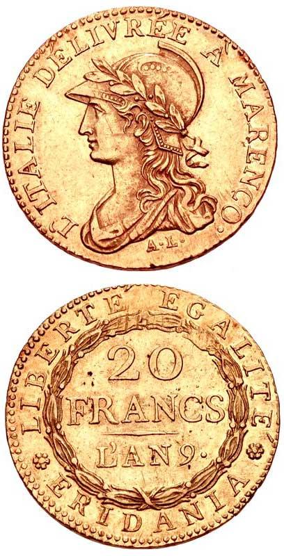 Napoleone Marengo d'oro del 1800