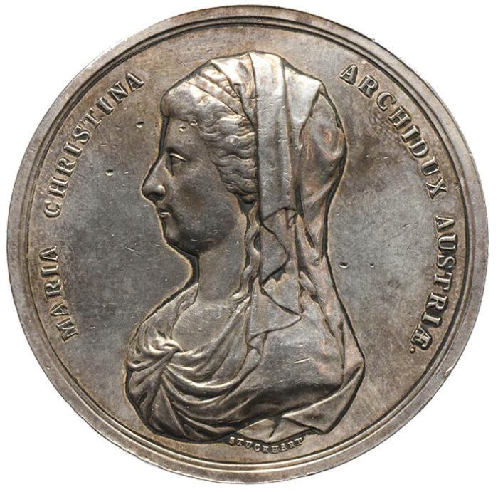 Medaglia in argento di Maria Cristina d'Austria Mausoleo del Canova