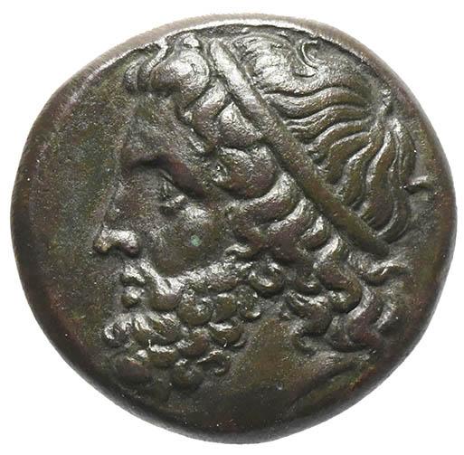 Moneta in bronzo di Siracusa con Poseidone